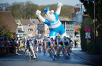Team Orica-GreenEDGE leads the peloton into the finale in support of race favorite Michael Matthews (AUS/Orica-GreenEDGE)<br /> <br /> 55th Brabantse Pijl 2015