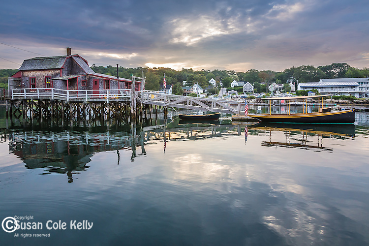 The little house on the footbridge in Boothbay Harbor, Maine, USA