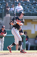 Trever Morrison #7 of the Oregon State Beavers bats against the Southern California Trojans at Dedeaux Field on May 23, 2014 in Los Angeles, California. Southern California defeated Oregon State, 4-2. (Larry Goren/Four Seam Images)