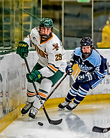 30 November 2018: University of Vermont Catamount Defender Taylor Flaherty, a Senior from Lakeville, MN, in first period action against the University of Maine Black Bears at Gutterson Fieldhouse in Burlington, Vermont. The Lady Cats were edged out by the Bears 2-1 in the first game of their 2-game Hockey East series. Mandatory Credit: Ed Wolfstein Photo *** RAW (NEF) Image File Available ***