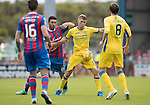 Inverness Caley Thistle v St Johnstone…27.08.16..  Tulloch Stadium  SPFL<br />David Wotherspoon holds off Ross Draper<br />Picture by Graeme Hart.<br />Copyright Perthshire Picture Agency<br />Tel: 01738 623350  Mobile: 07990 594431