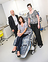 02/08/2010   Copyright  Pic : James Stewart.012_hospital_day_one  .::  NHS FORTH VALLEY ROYAL HOSPITAL, LARBERT :: THE FIRST FACIAL PATIENT, YVONNE SHEARER FROM FALKIRK WITH JEFF DOWNIE AND JANE SHEARER, ASSOCIATE SPECIALIST  :: DAY ONE OF THE NEW HOSPITAL AS PATIENTS START TO ARRIVE   ::