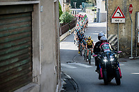 peloton up the first climb of the day; the Colle Gallo (763m)<br /> <br /> 113th Il Lombardia 2019 (1.UWT)<br /> 1 day race from Bergamo to Como (ITA/243km)<br /> <br /> ©kramon