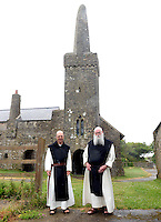 Pictured: Monks at the monastery on Caldey Island off the Pembrokeshire coast, Wales, UK. Circa 2006 <br /> Re: A small island off the Welsh coast known for its order of perfume-making monks and sense of tranquility has recorded its first crime in recent history.<br /> Police were called to Caldey Island which has apopulation of 40, off Tenby in Pembrokeshire, west Wales after an incident at the chocolate factory.<br /> The officers were taken on an RNLI lifeboat to the island, 2 miles off the resort of Tenby, to make an arrest.<br /> The crime was revealed when a visitor from Dudley, West Midlands, appeared in Haverfordwest magistrates court and admitted assault. The man was visiting the island when he struck his  7 year old son during a visit to the chocolate factory, where handmade treats are produced by monks.