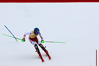 21st December 2020; Alta Badia Ski Resort, Dolomites, Italy; International Ski Federation World Cup Slalom Skiing; Marco Schwarz (AUT) comes through the finish gate