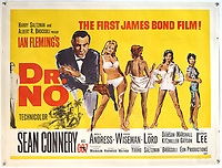 BNPS.co.uk (01202) 558833.<br /> Pic: Ewbank's/BNPS<br /> <br /> Pictured: This Dr No British Quad film poster sold for £20,000 <br /> <br /> A collection of rare James Bond movie posters and memorabilia has sold for £220,000 following a bidding war.<br /> The adverts in the sale included a prized British Quad poster with four different works of art promoting the 1965 film Thunderball, which fetched £10,000.<br /> <br /> The 30ins by 40ins poster was designed to be cut into four pieces, so very few examples - complete or otherwise - have survived.