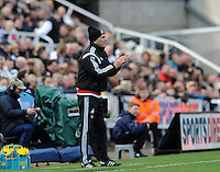 Francesco Guidolin manager of Swansea City issues instructions to his players during the Barclays Premier League match between Newcastle United and Swansea City played at St. James' Park, Newcastle upon Tyne, on the 16th April 2016