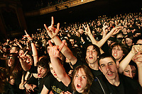 Crowd cheers during a Cradle of Filth metal band show at Le Capitole de Quebec January 27, 2007.