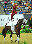 7 October 2010: Rikke Laumann (DEN)  competes during Vaulting in the World Equestrian Games in Lexington, Kentucky