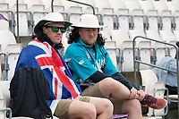 Fans patiently wait for play to start as rain once again intervenes during India vs New Zealand, ICC World Test Championship Final Cricket at The Hampshire Bowl on 22nd June 2021