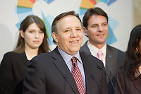 FRancois Legault, Leader Coalition Avenir Quebec in 2012,<br /> <br /> File  Photo : Agence Quebec Presse  - Pierre Roussel