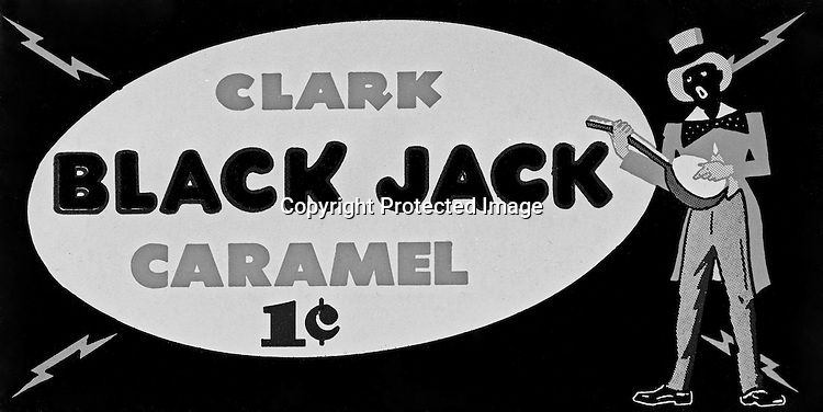 Client: DL Clark Company<br /> Product: Clark BlackJack Caramel<br /> Ad Agency: Ketchum Advertising<br /> <br /> Pittsburgh PA: By 1920, the D. L. Clark Company was making about 150 different types of candy, including several five-cent bars, specialty items, and bulk candy. The D. L. Clark Company remained in the hands of the Clark family until it was sold in 1955 to the Beatrice Food Company who operated the company until 1983.