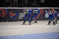 SPEEDSKATING: DORDRECHT: 06-03-2021, ISU World Short Track Speedskating Championships, SF 5000m Relay, (ITA), (RSU), ©photo Martin de Jong