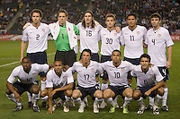 The starting 11 for the United States friendly match against Sweden.  USA Men's National team beat the Sweden 3-2  at the Home Depot Center in Carson, Calif on Saturday, January 24, 2009.