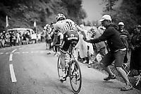 Laurens ten Dam (NLD/Giant-Alpecin) accepting a coke from a bystander up the Montée de Bisanne (HC/1723m/12.4km/8.2%)<br /> <br /> Stage 19:  Albertville › Saint-Gervais /Mont Blanc (146km)<br /> 103rd Tour de France 2016