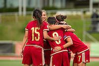 Spain's Sonia Bermudez Marta Corredera during the match of  European Women's Championship 2017 at Las Rozas, between Spain and Montenegro. September 15, 2016. (ALTERPHOTOS/Rodrigo Jimenez) /NORTEPHOTO