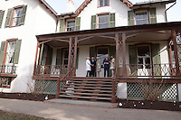 Washington, DC - March 19, 2015: His Royal Highness The Prince of Wales, accompanied by The Duchess of Cornwall (c), tours the Abraham Lincoln Cottage in the District of Columbia, March 19, 2015, as part of a four-day USA visit. Prince Charles has officially visited the United States 19 times since 1970. (Photo by Don Baxter/Media Images International)