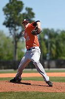 Houston Astros pitcher Jonas Dufek (82) during a minor league spring training game against the Atlanta Braves on March 29, 2015 at the Osceola County Stadium Complex in Kissimmee, Florida.  (Mike Janes/Four Seam Images)