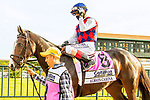 SEPT 25, 2021: Always Carina post parade for the Gr.1 Cotillion Stakes, for 3-year old fillies, going 1 1/16mile, at Parx Racing, Bensalem, PA. Sue Kawczynski/Eclipse Sportswire/CSM