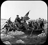 Washington Crossing the Delaware.  December 1776. Copy from painting by Emanuel Leutze, 1851. (Commission of Fine Arts)<br /> Exact Date Shot Unknown<br /> NARA FILE #:  066-G-15D-25<br /> WAR & CONFLICT #:  29