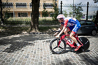 Suisse TT champion Stefan Küng (SUI/Groupama-FDJ) returning to the start over rough terrain through Brussels after the morning course reconnaissance <br /> <br /> Stage 2 (TTT): Brussels to Brussels (BEL/28km) <br /> 106th Tour de France 2019 (2.UWT)<br /> <br /> ©kramon