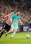 Lionel Andres Messi (r) of FC Barcelona competes for the ball with Mikel San Jose Dominguez of Athletic Club during their Copa del Rey Round of 16 first leg match between Athletic Club and FC Barcelona at San Mames Stadium on 05 January 2017 in Bilbao, Spain. Photo by Victor Fraile / Power Sport Images
