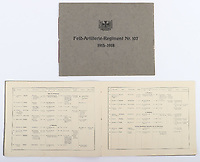 BNPS.co.uk (01202 558833)<br /> Pic: C&TAuctions/BNPS<br /> <br /> Pictured: An information booklet about Maj Rudloff's regiment. <br /> <br /> Fascinating previously unseen World War One photos showing the conflict from the German perspective have come to light 103 years on.<br /> <br /> Major Hans Rudloff, a distinguished artillery officer, took hundreds of images of some of the major Western Front battles.<br /> <br /> There are scenes of destruction on the Verdun and at Cambrai, as well as snapshots of captured British soldiers on the Somme in the early days of the German Spring Offensive in March 1918.