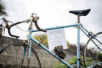 1952 roadbike of TDF participant Jean Le Guilly at the roadside<br /> <br /> Stage 3 from Lorient to Pontivy (183km)<br /> 108th Tour de France 2021 (2.UWT)<br /> <br /> ©kramon