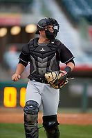 Jupiter Hammerheads catcher Nick Fortes (7) during a Florida State League game against the Florida Fire Frogs on April 8, 2019 at Osceola County Stadium in Kissimmee, Florida.  Florida defeated Jupiter 7-6 in ten innings.  (Mike Janes/Four Seam Images)