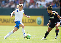 Boston Breakers Kristine Lilly is marked by LA Sol's Brittany Bock. The Boston Breakers and LA Sol played to a 0-0 draw at Home Depot Center stadium in Carson, California on Sunday May 10, 2009.   .