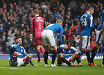 Harry Forrester and Andy Halliday injured as a goal celebration goes wrong