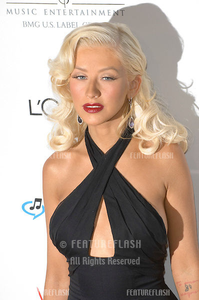 CHRISTINA AGUILERA at the Clive Davis pre-Grammy Party at the Beverly Hilton Hotel..February 11, 2007  Beverly Hills, CA.Picture: Paul Smith / Featureflash