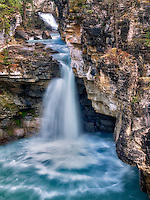 Unnamed waterfall in Beauty Creek. Jasper National Park, Aberta Canada