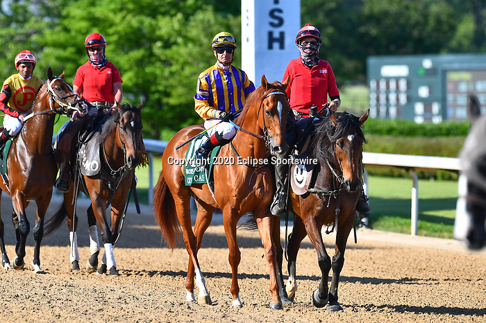 Crypto Cash (10) with jockey Corey Lanerie aboard during the 1st division of the Arkansas Derby at Oaklawn Racing Casino Resort in Hot Springs, Arkansas on May 2, 2020. Ted McClenning/Eclipse Sportswire/CSM