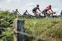 Casper Pedersen (DEN/DSM) and Nacer Bouhanni (FRA/Arkéa-Samsic)<br /> <br /> Stage 7 from Vierzon to Le Creusot (249.1km)<br /> 108th Tour de France 2021 (2.UWT)<br /> <br /> ©kramon