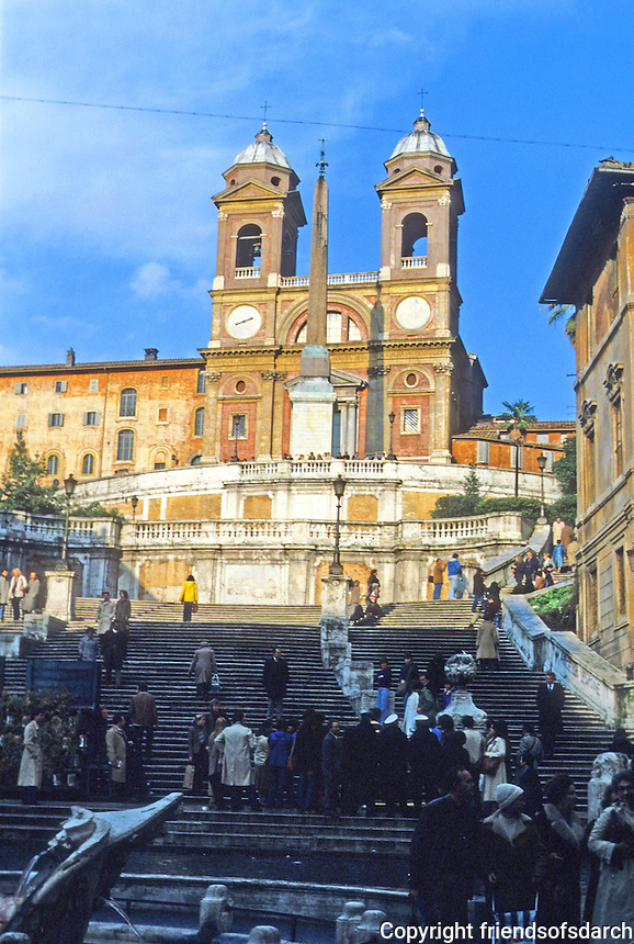 Italy: Rome--Spanish Steps, Piazza Di Spagna and Trinita Dei Monti. Photo '82.