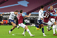 Jack Grealish of Aston Villa scores the equaliser and celebrates during West Ham United vs Aston Villa, Premier League Football at The London Stadium on 30th November 2020