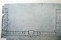 Thomas Jefferson: Monticello. Basement with Dependencies. Final drawing.
