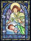 Randy, HOLY FAMILIES, HEILIGE FAMILIE, SAGRADA FAMÍLIA, paintings+++++SG-Guardian-Angel-and-Boy-V,USRW161,#xr# ,church window, stained glass