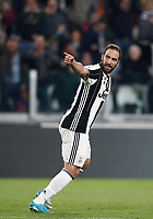 Calcio, Serie A: Torino, Juventus Stadium, 6 maggio 2017. <br /> Juventus' Gonzalo Higuain celebrates after scoring during the Italian Serie A football match between Juventus and Torino at Torino's Juventus stadium, May 6, 2017.<br /> UPDATE IMAGES PRESS/Isabella Bonotto