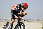 Harm Vanhoucke (BEL) Lotto-Soudal during Stage 2 of the 2021 UAE Tour an individual time trial running 13km around  Al Hudayriyat Island, Abu Dhabi, UAE. 22nd February 2021.  <br /> Picture: Eoin Clarke | Cyclefile<br /> <br /> All photos usage must carry mandatory copyright credit (© Cyclefile | Eoin Clarke)