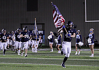 Har-Ber Wildcats Senior Jaylen Martin (49) leads the team out onto the field to face the Fort Smith Northside Grizzlies in a first round play-off game Friday, November 13, 2020, at Wildcat Stadium, Springdale, Arkansas (Special to NWA Democrat-Gazette/Brent Soule)