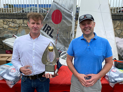 The National Yacht Club's O'Leary Cup presented for the best performance in one design  was won by Stephen Oram and Noel Butler