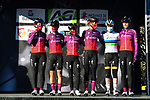 Team SD Worx at the team presentations before the start of Liege-Bastogne-Liege Femmes 2021, running 141km from Bastogne to Liege, Belgium. 25th April 2021.  <br /> Picture: A.S.O./Gautier Demouveaux | Cyclefile<br /> <br /> All photos usage must carry mandatory copyright credit (© Cyclefile | A.S.O./Gautier Demouveaux)