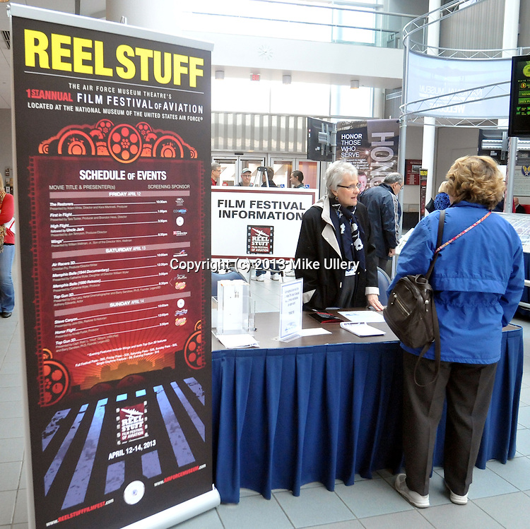 """Day one of the Reel Stuff Film Festival of Aviation at the National Museum of the United States Air Force in Dayton, Ohio on April 12, 2013...Films included """"TheRestorers"""" presented by Director Adam White and Producer Kara Martinelli; """"First In Flight"""" presented by Producer Tara Tucker and Director Brandon Hess; """"High Flight"""", presented by Producer/Director Jon Tennyson; and """"Wings"""" presented by William Wellman, Jr., son of Director William Wellman."""