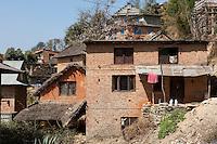 Bhaktapur, Nepal.  Family Houses outside the City.