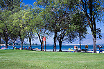 Inviting park with swimming, camping, picnicking and boat launch on Osoyoos Lake in Washington's Okanogan country.  Osoyoos Lake extends north into Canada from Oroville, Washington, an old gold mining town.