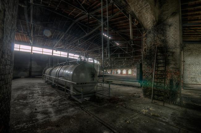 Old railway workshop in east Germany