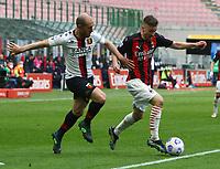 Milano  18-04-2021<br /> Stadio Giuseppe Meazza<br /> Serie A  Tim 2020/21<br /> Milan Genoa<br /> Nella foto: Alexis Saelemaekers                                     <br /> Antonio Saia Kines Milano