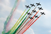 6th September 2020; Autodromo Nazionale Monza, Monza, Italy ; Formula 1 Grand Prix of Italy, Race Day;  Flyover by the Italian air force pre-race
